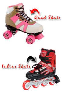 difference between quad inline roller skates